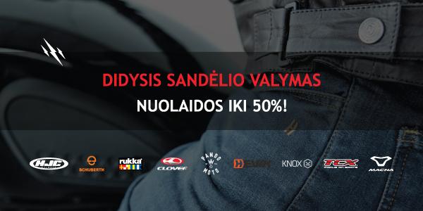 DIDYSIS SANDĖLIO SALYMAS!