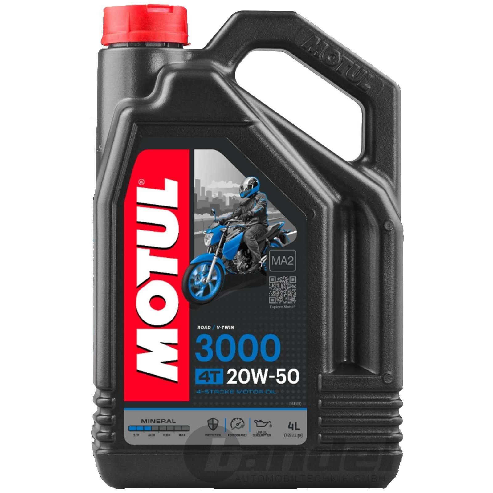Mineralinė alyva MOTUL 3000 4T 20W-50 4L