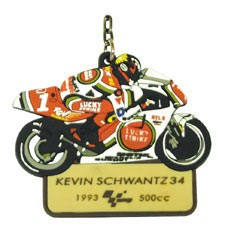 """Raktų pakabukas """"MotoGp Legends"""" - KEVIN SCHWANTZ #34"""