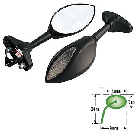 Universalūs veidrodžiai su integruotais LED posūkio žibintais