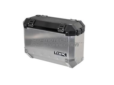 TraX šoninė 37 l talpos dėžė, sidabro spalvos