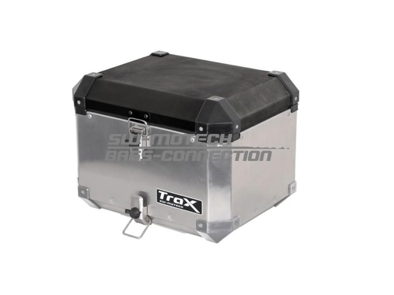 TraX centrinė 38 l talpos dėžė, sidabro spalvos