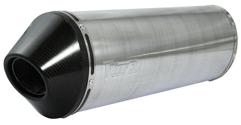 Viper Alloy Oval Stubby duslintuvas Honda VFR400 NC30 89-93