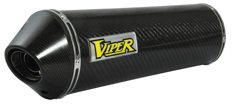 Viper Carbon Fibre Oval (E) duslintuvas Honda VFR400 NC30 89-93