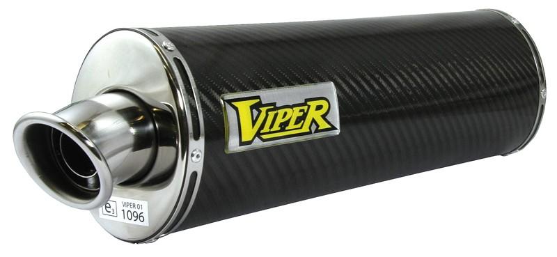 Viper Carbon Fibre Oval (E) duslintuvas Honda CBF500 04-06