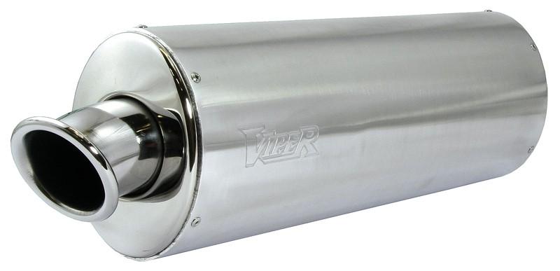 Viper Alloy Oval Stubby duslintuvas Honda VFR400 NC21 85-88