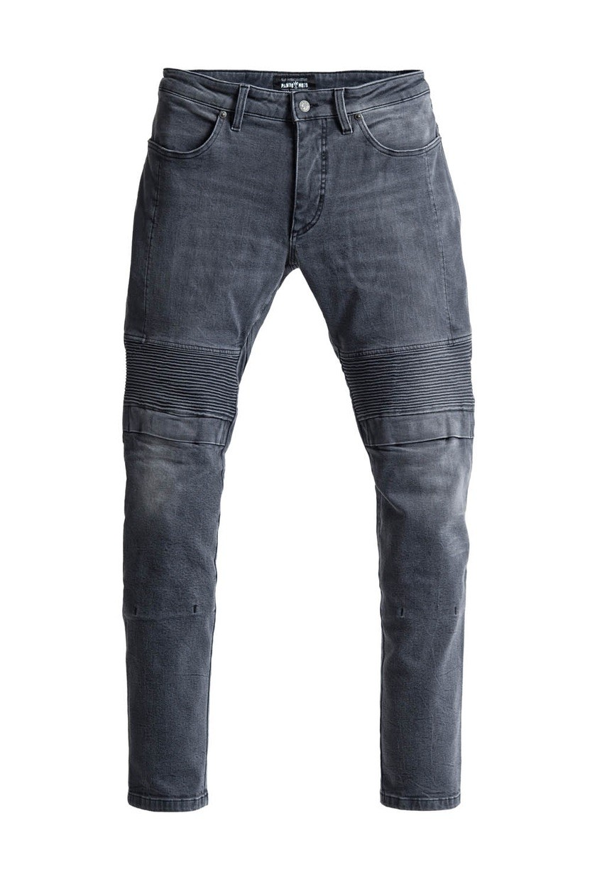 PANDO MOTO Karl Lead - Slim-Fit, Motorcycle Jeans with Cordura®