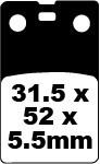 Diskinių stabdžių kaladėlės EBC-FA099R