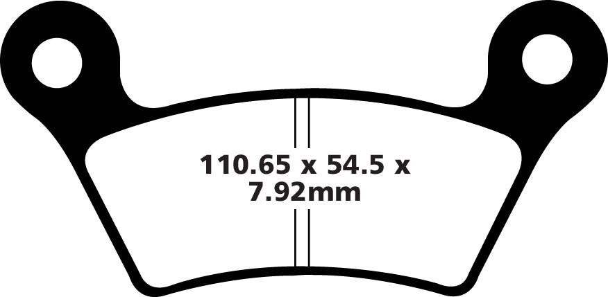Diskinių stabdžių kaladėlės EBC-FA473