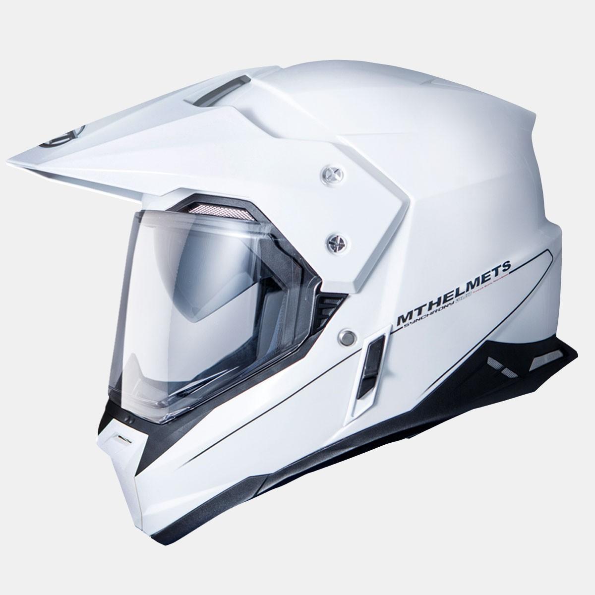 Šalmas MT Synchrony DuoSport Gloss White