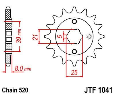 Priekinė žvaigždė JT (JTF 1041-14)