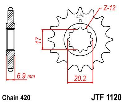 Priekinė žvaigždė JT (JTF 1120-10)
