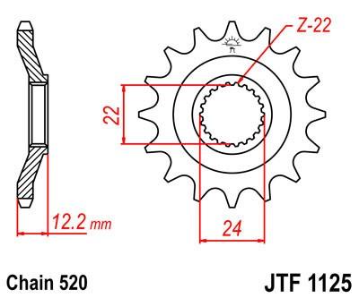 Priekinė žvaigždė JT (JTF 1125-15)