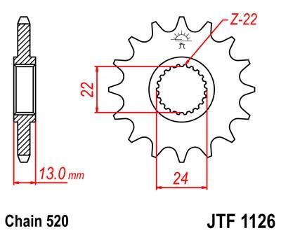 Priekinė žvaigždė JT (JTF 1126-16)