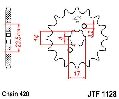 Priekinė žvaigždė JT (JTF 1128-14)