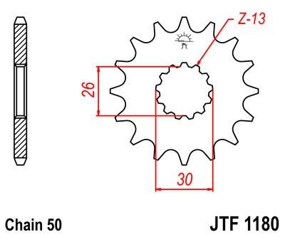 Priekinė žvaigždė JT (JTF 1180-18)