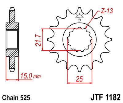 Priekinė žvaigždė JT (JTF 1182-14)