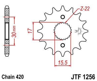 Priekinė žvaigždė JT (JTF 1256-16)