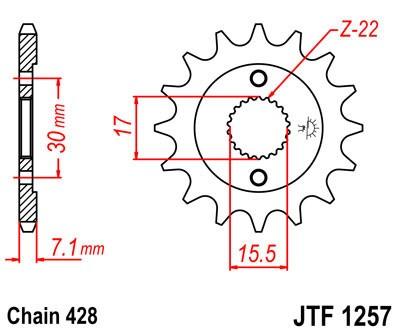 Priekinė žvaigždė JT (JTF 1257-15)