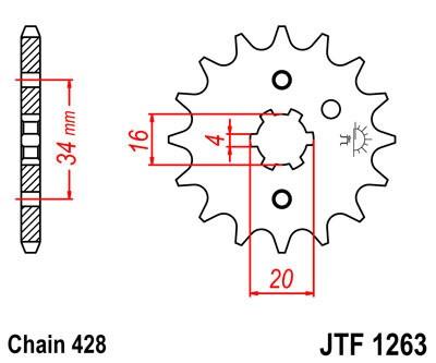 Priekinė žvaigždė JT (JTF 1263-16)