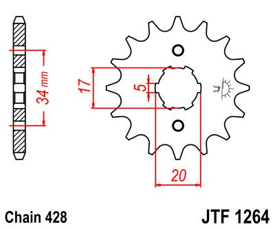 Priekinė žvaigždė JT (JTF 1264-16)