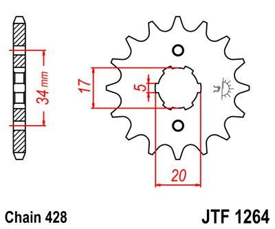 Priekinė žvaigždė JT (JTF 1264-17)