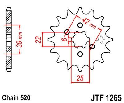 Priekinė žvaigždė JT (JTF 1265-15)