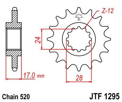 Priekinė žvaigždė JT (JTF 1295-15)