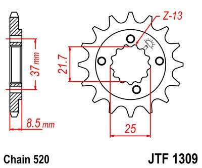 Priekinė žvaigždė JT (JTF 1309-13)