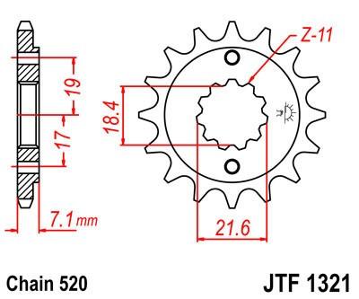 Priekinė žvaigždė JT (JTF 1321-12)