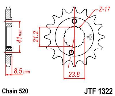 Priekinė žvaigždė JT (JTF 1322-13)