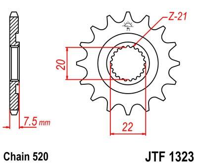 Priekinė žvaigždė JT (JTF 1323-12)