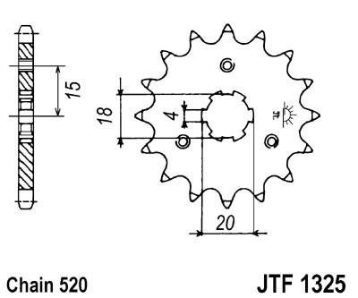 Priekinė žvaigždė JT (JTF 1325-12)
