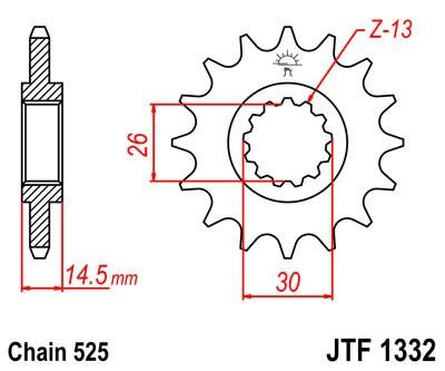 Priekinė žvaigždė JT (JTF 1332-17)