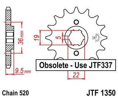 Priekinė žvaigždė JT (JTF 1350-13)