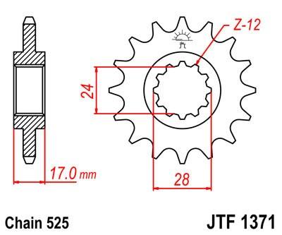 Priekinė žvaigždė JT (JTF 1371-14)