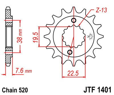 Priekinė žvaigždė JT (JTF 1401-14)
