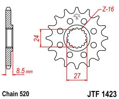 Priekinė žvaigždė JT (JTF 1423-16)