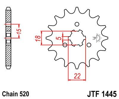 Priekinė žvaigždė JT (JTF 1445-14)