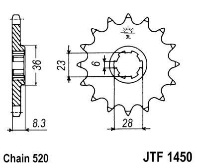 Priekinė žvaigždė JT (JTF 1450-13)