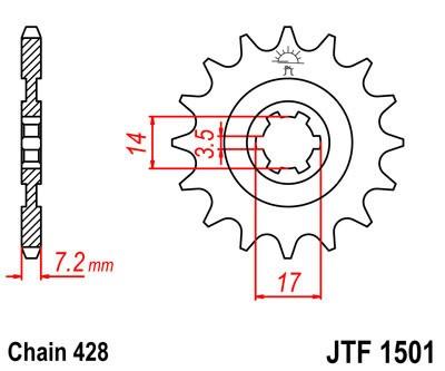 Priekinė žvaigždė JT (JTF 1501-12)
