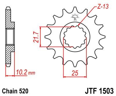 Priekinė žvaigždė JT (JTF 1503-12)