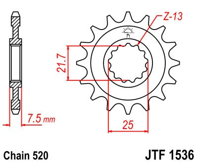 Priekinė žvaigždė JT (JTF 1536-14)