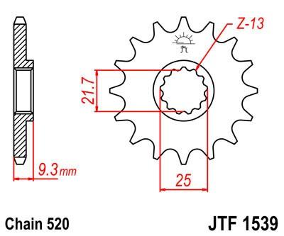 Priekinė žvaigždė JT (JTF 1539-14)