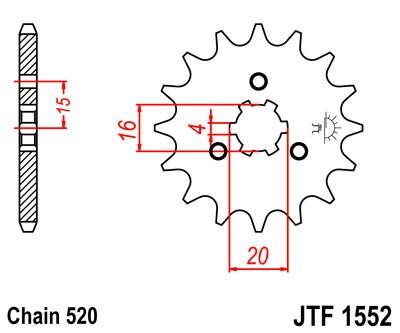 Priekinė žvaigždė JT (JTF 1552-10)