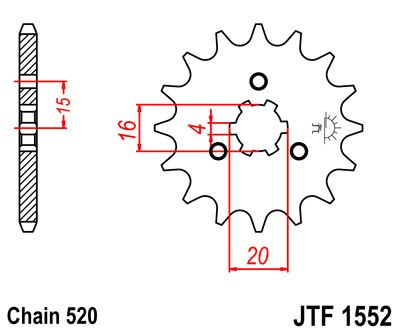 Priekinė žvaigždė JT (JTF 1552-11)