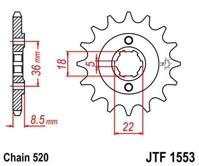 Priekinė žvaigždė JT (JTF 1553-15)