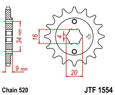 Priekinė žvaigždė JT (JTF 1554-12)