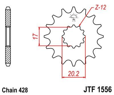 Priekinė žvaigždė JT (JTF 1556-12)