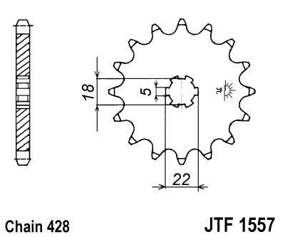 Priekinė žvaigždė JT (JTF 1557-11)